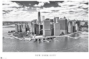 New York City Black and White Skyline Poster - egoamo.co.za