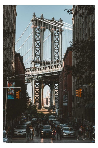 NYC Manhattan Bridge Poster - egoamo posters