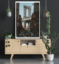 New York Manhattan Bridge poster - room mockup - egoamo posters