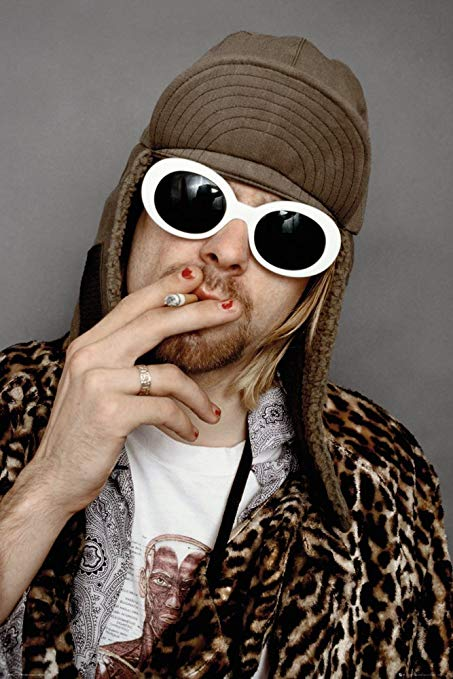 Nirvana  - Kurt Cobain Smoking Portrait Poster - egoamo.co.za