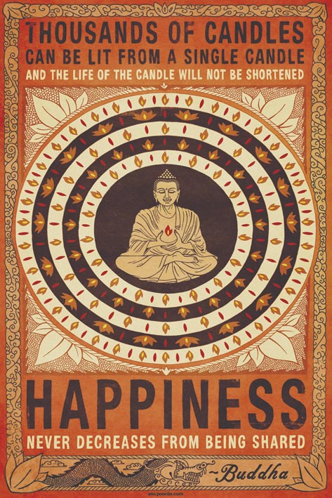 Buddha Happiness Poster - egoamo.co.za