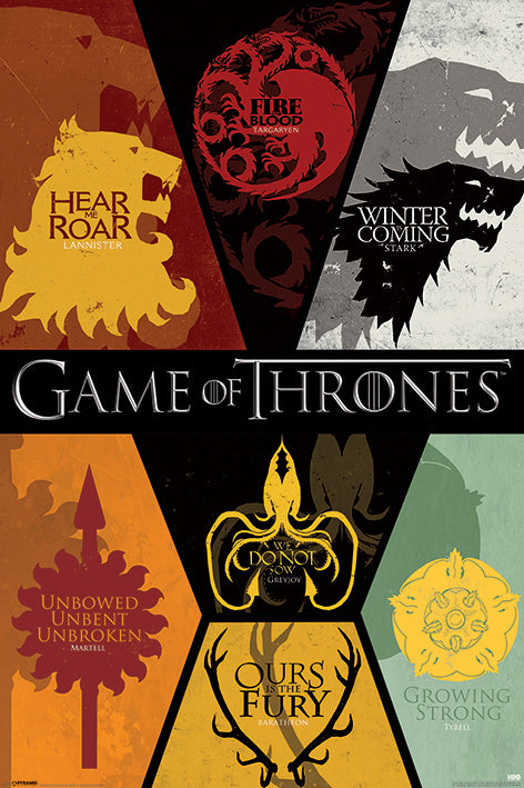 Game of Thrones - Sigils - Poster - egoamo.co.za