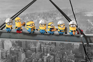 Minions - Lunch on a Skyscraper - Poster - egoamo.co.za