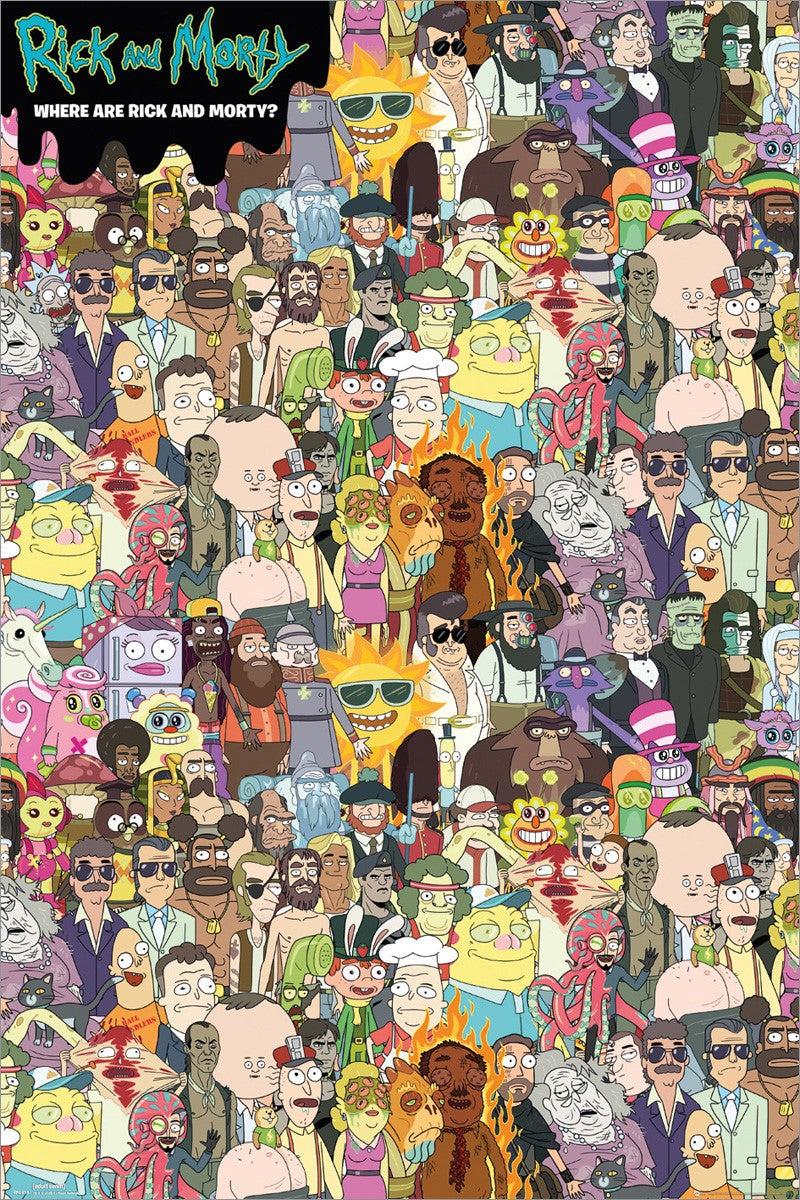 Rick and Morty - Spot them Out Poster  Egoamo.co.za Posters