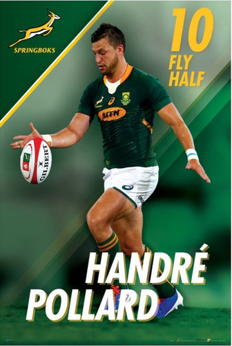 Handre Pollard Springbok Rugby Poster - egoamo posters