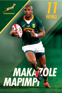 Makazole Mapimpi - Springbok Rugby Poster - egoamo posters