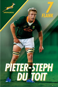 Pieter-Steph du Toit Springbok Rugby Poster - egoamo posters