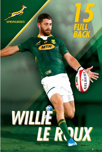 Willie le Roux Springbok Rugby Poster - egoamo posters