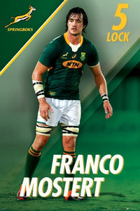 Franco Mostert Springbok rugby Poster - egoamo posters