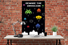 Space Invaders - Beware the Invasion - Poster - egoamo.co.za