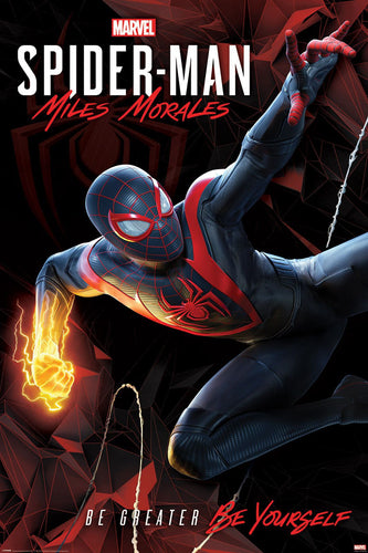 Spider-man - Miles Morales Cybernetic Swing Poster Mock Up Egoamo.co.za Posters