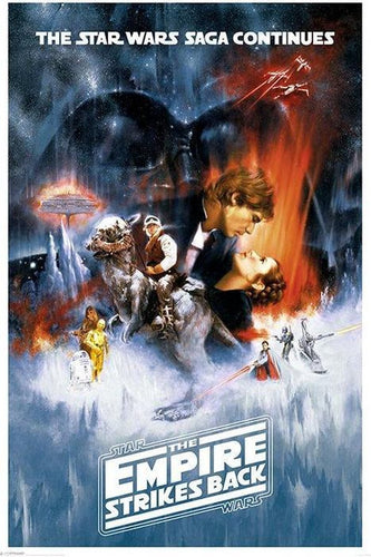 Star Wars - The Empire Strikes Back White Boarder Poster - Egoamo.co.za Posters