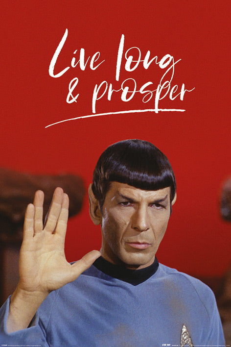 Star Trek - Live long and prosper Poster - egoamo.co.za