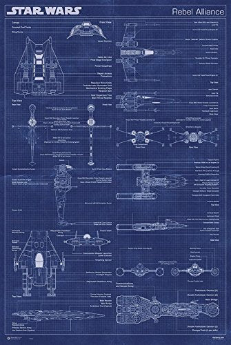 Star Wars - Rebel Alliance Blueprint Poster - egoamo.co.za