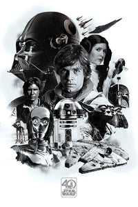 Star Wars - 40th Anniversary Poster - egoamo.co.za
