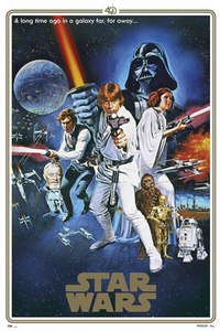 Star Wars - A New Hope 40th Anniversary poster - egoamo.co.za