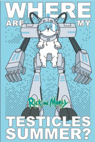 Snuffles Robot - Rick and Morty Poster - egoamo.co.za