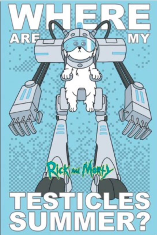 Rick and Morty - Snuffles Robot TV Series poster - egoamo.co.za