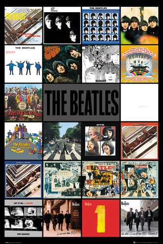 The Beatles Album Collage Poster  egoamo.co.za posters