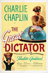 Charlie Chaplin - The Great Dictator Poster - egoamo.co.za