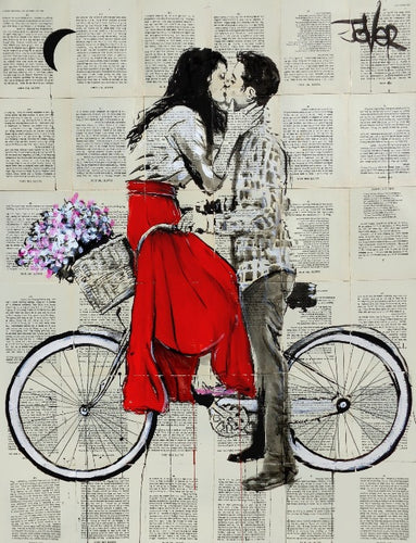 Loui Jover - Bike Days Art Print - egoamo.co.za