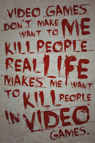 Video Games Don't Kill People Poster egoamo.co.za Posters