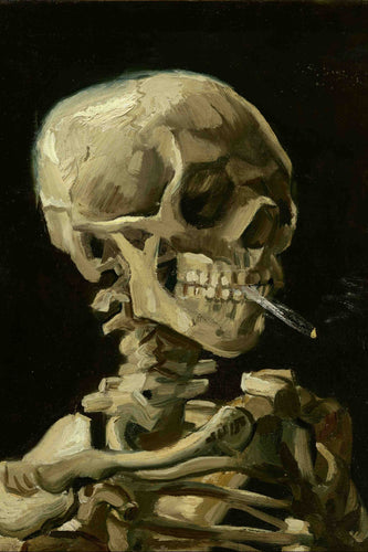 Vincent Van Gogh - Skull of a Skeleton with Burning Cigarette (1886) Poster - egoamo.co.za