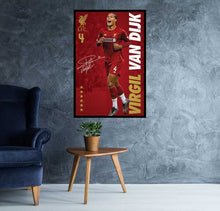 Virgil Van Dyk Poster Liverpool FC #4 2019/2020 Champions Poster Signed by Virgil Van Dyk - Egoamo.co.za Posters  Premier League Players Poster