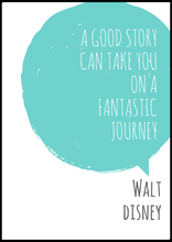 "EgoAmo Original - ""A good story can take you on a fantastic journey"" Walt Disney Poster - egoamo.co.za"