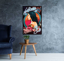 wonder woman ww84 retro movie poster room mock up - egoamo posters