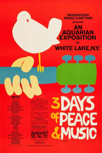 Woodstock - 3 Days of Peace & Music Poster - egoamo.co.za
