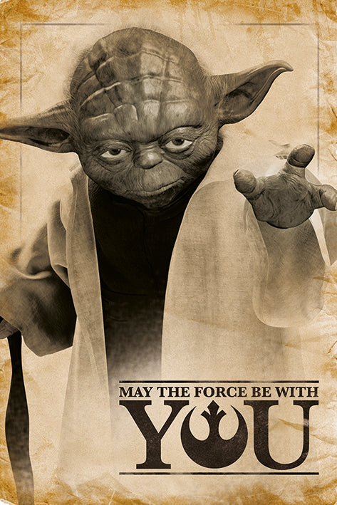 Star Wars - Yoda - May the Force be with you - Poster - egoamo.co.za