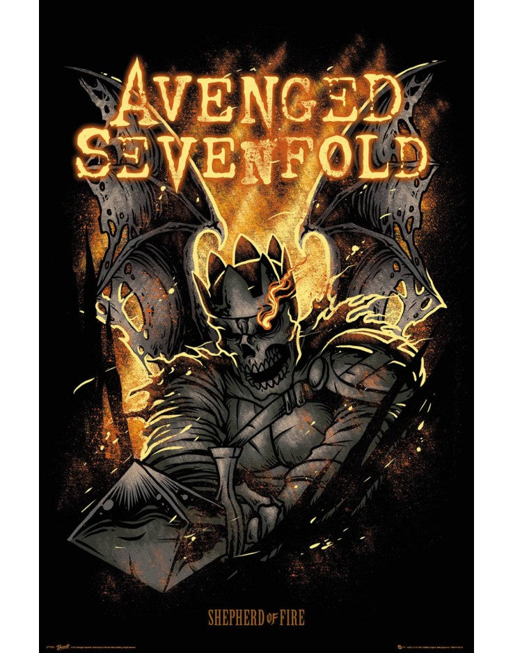Avenged Sevenfold- Shepherd of Fire Poster - egoamo.co.za