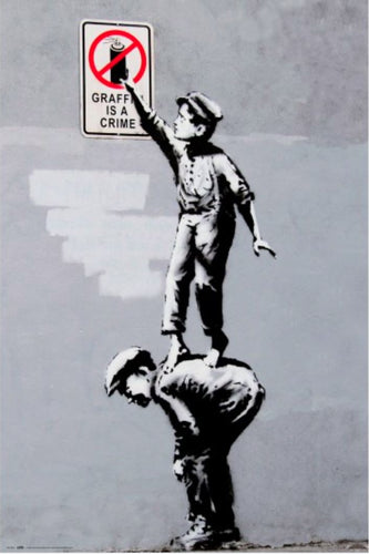Banksy - Graffiti is a Crime Poster - egoamo.co.za