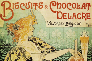 """Biscuits & Chocolat Delacre"" by Henri Privat-Livemont - Art Nouveau Poster - egoamo.co.za"