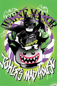 Lego Batman -  Joker's Mad House - Poster - egoamo.co.za
