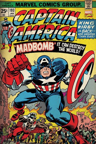 Captain America - Madbomb Comic Poster - egoamo.co.za