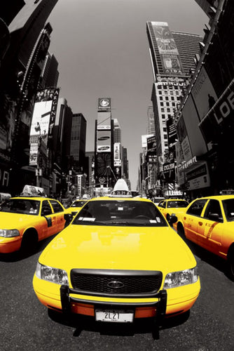 NYC Yellow Cabs - Poster - egoamo.co.za