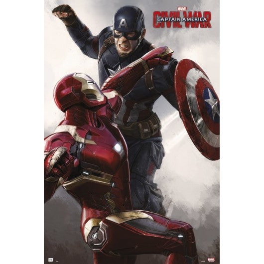 Captain America Civil War - Iron Man vs Captain America Collectible Movie Poster - egoamo.co.za