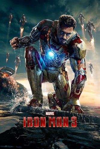 Iron Man 3 Crouching One Sheet- Collectable Movie Poster - egoamo.co.za