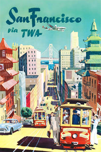 Vintage San Francisco Travel Poster - egoamo.co.za