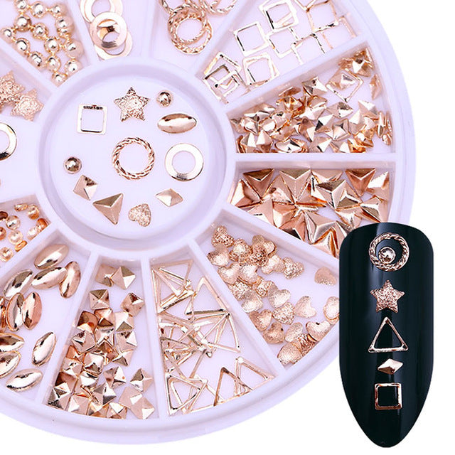 Rose Gold Rivet 3D Nail Art Decoration