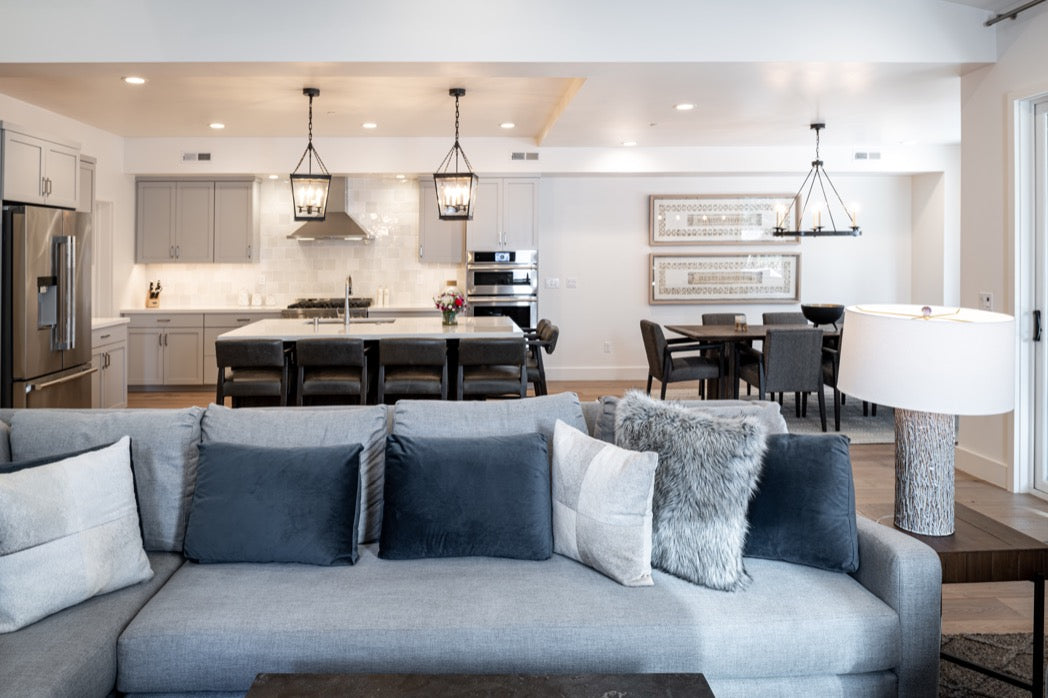 Interiord design for great-room in Truckee, CA