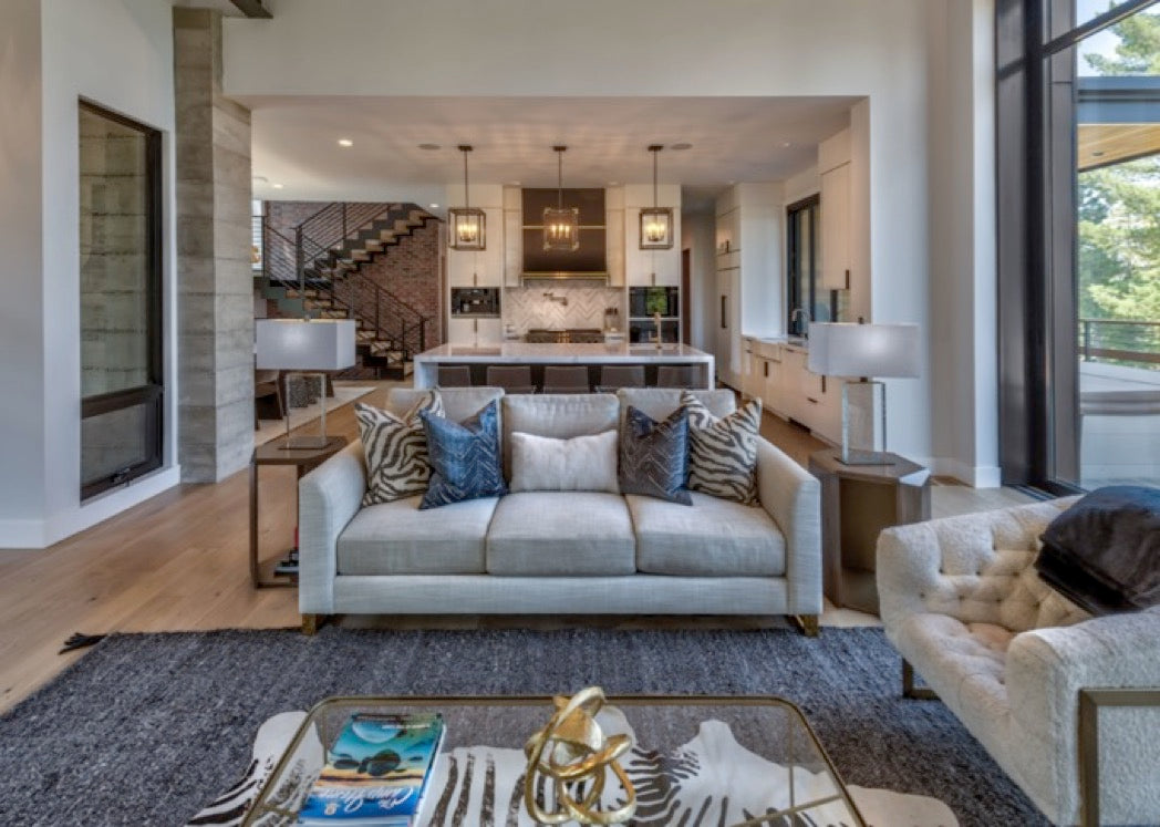 Great room design for Martis Camp home in Truckee, CA.