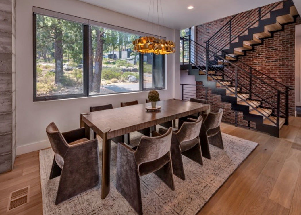 Dining room design for Martis Camp home in Truckee, CA.