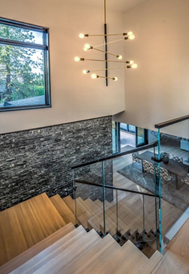 Lighting design for Truckee home entryway