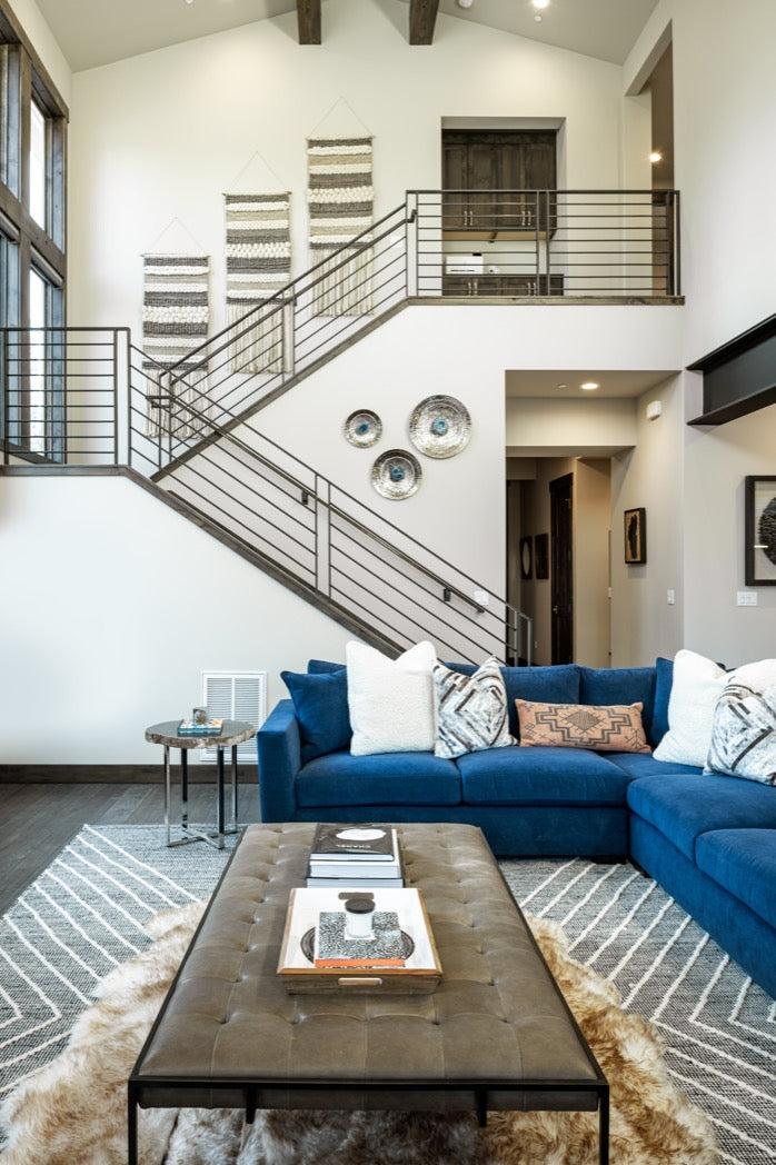 Staircase in Truckee vacation home