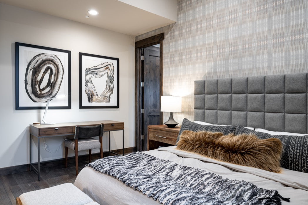 Master bedroom interior design, Truckee, CA