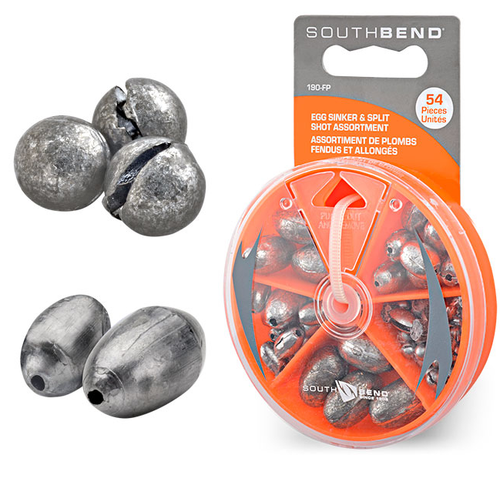 South Bend Egg and Split Shot Sinker Assortment 54 Piece