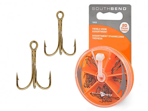 South Bend Treble Hook Assortment - 20 Piece